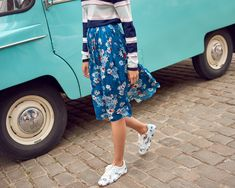 Street View, Floral, Skirts, Fashion, Moda, Fashion Styles, Flowers, Skirt