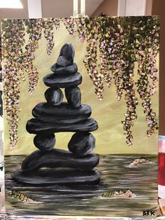 Zen Rock Balancing #EverythingZen #Idontthinkso