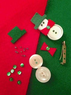 Do it yourself snowman broach. Very easy to do and very cute