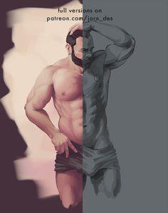 Men painting practice 11