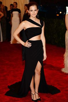 Emma Watson, the Bling Ring star draped herself in a gown from Prabal Gurungs Fall-Winter 2013 collection.