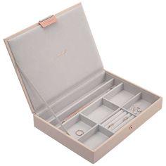 Stackers Jewellery Box Lid | Blush Pink at John Lewis
