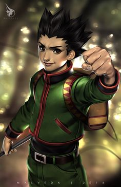 Gon by alex-malveda on DeviantArt Hunter Anime, Hunter X Hunter, Hisoka, Killua, Sky Anime, Anime Art, Hxh Characters, Boyish, Anime Fantasy