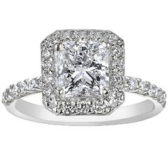 Platinum Fancy Diamond Halo Ring (1/3 ct.tw.) from Brilliant Earth