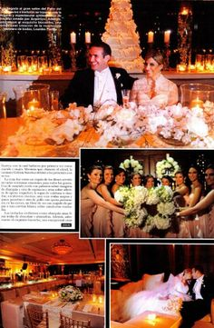 Wedding featured in the September issue of ¡HOLA! Puerto Rico.  Décor by Arquetipo Special Lighting by Music Factory, Inc. Wedding Cake by Luxury Wedding Cakes By Lourdes Padilla — at Condado Vanderbilt.