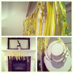 DIY ribbon garland. Great for Christmas, baby showers, birthdays, and New Years.