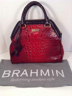 New BRAHMIN Ruby Tri-texture SARA ROSE Satchel Shoulder Tote Handbag $395 TJ2