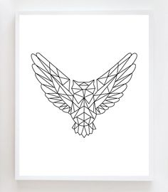 Items similar to Geometric Owl Wall Art Print on Etsy Geometric Owl Tattoo, Geometric Drawing, Geometric Art, Geometric Animal, Owl Wall Art, Wall Art Prints, Owl Art, Trendy Tattoos, New Tattoos