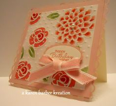CC376 - ODE TO AWESOME COLORS.... by Karen B Barber - Cards and Paper Crafts at Splitcoaststampers