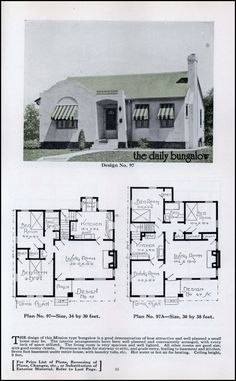 Spanish bungalow house plans image of local worship for Spanish bungalow floor plans