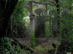 Ancient Ruins, Sintra, Portugal - mystical looking