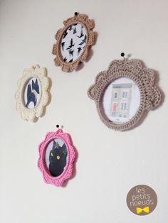 Petits cadres au crochet | Crochet frame | Crochet deco | www.les-petits-noeuds.fr