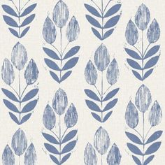 Beacon House Scandinavian Blue Block Tulip Paper Non-Pasted Wallpaper Roll (Covers 56 Sq. Ft.)-2535-20652 - The Home Depot