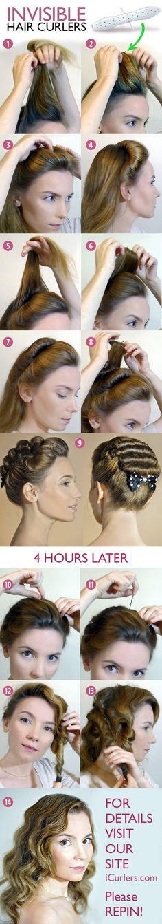 How to use invisible #hair #curlers or How to create curlydos. #Hairdo tutorial.