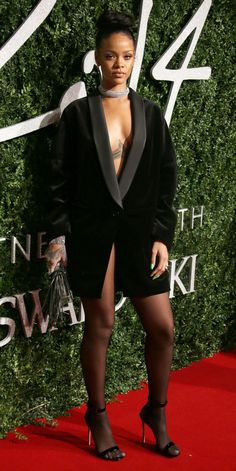 Rihanna's Red Carpet Style - In Stella McCartney, 2014 from InStyle.com
