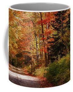 A view up Jefferson Notch road Coffee Mug by Jeff Folger.
