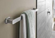 """Via chrome 24"""" towel bar. Moen."""