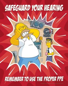 Hearing Protection Poster - Simpsons