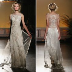 This 1 Dress Will Convince You That You Need a Butt Veil for Your Wedding — Cosmopolitan Wedding Tiaras, 2016 Wedding Dresses, Dream Dress, Veil, Bridal Gowns, Fashion Beauty, Cosmopolitan, Formal Dresses, Claire Pettibone