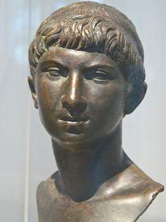 Bronze portrait head of Ptolemy of Mauretania Roman early Julio-Claudian 5-20 CE
