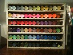 DIY Craft Paint Organizer Display From Scrap Wood DIY Craft Paint Organizer Display from scrap wood Craft Paint Storage, Paint Organization, Diy Storage, Storage Ideas, Organization Ideas, Organizing Tips, Organising, Scrap Wood Crafts, Diy Crafts