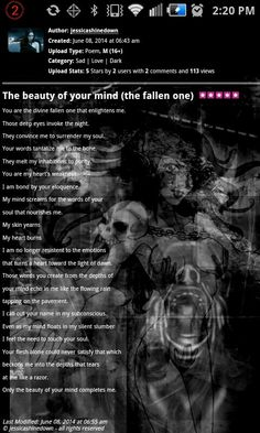 The beauty of your mind(the fallen one)