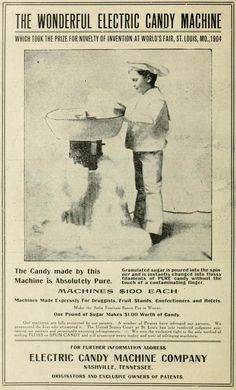 """The Wonderful Electric Candy Machine"" Tennessee State Fair Official Souvenir Program and Guide [1907] (Candy Floss/Cotton Candy)"