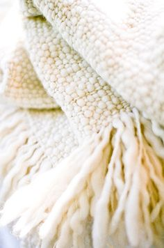 The Baby Cloud Thick Wool Throw made of Superfine Merino Wool Plaid Blanket, Merino Wool Blanket, Alpaca Throw, Color Psychology, Fabric Textures, Shades Of White, Winter White, Cozy Winter, White Decor