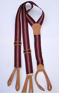 Vintage stripped braces Button Suspenders, Braces Suspenders, Leather Suspenders, Running Belt, Sport Socks, Fashion History, American Apparel, Menswear, Mens Fashion