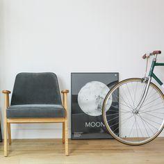 366 easychair in Graphite colour - VELVET collection.