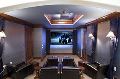 Finished Basements traditional-home-theater
