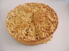 Herfst: Appel-kaneel-walnoot-honing-kruimeltaart recept | Smulweb.nl