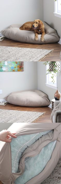 Animals Dog: Xl Corner Dog Bed Pillow Ergonomic Bolstered Pet Cat Extra Large Mat Cushion Pad BUY IT NOW ONLY: $79.99