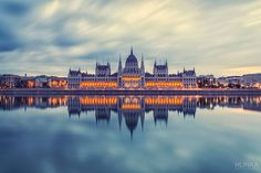 Budapest Parliament by Zsolt Hlinka on Beautiful Buildings, Beautiful Places, Capital Of Hungary, Budapest Hungary, Architecture Photo, New York Skyline, Around The Worlds, Explore, Landscape