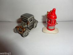 Arcadia Mini Car Automobile Gas Pump Miniature Salt Pepper Shakers Go with EX | eBay