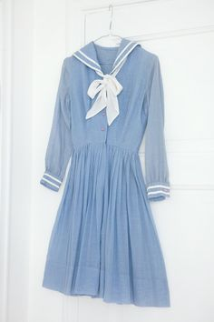 vintage sailor dress. I seriously had a dress like this when i was a little girl.