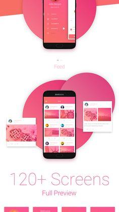 Matta Material Design Mobile UI Kit - Uplabs