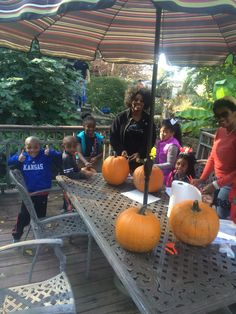 Carving Pumpkins at our annual Fall Fest.!
