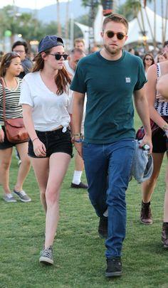 Kristen Stewart and Robert Pattinson at Day 2 of the 2013 Coachella Music Festival…