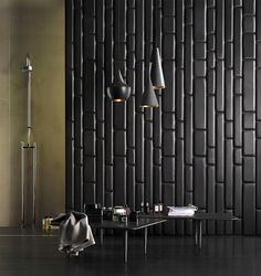 Leather wall tiles are trendy and the most luxurious materials for modern wall design. They add unusual accents to modern interior design and make a dramatic visual statement Art Design, Tile Design, Interior Design, Modern Interior, Leather Wall Panels, Wall Finishes, Of Wallpaper, Leather Design, Cool Walls