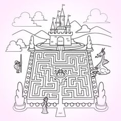 Coloring pages and mazes make wonderful mailings to our sponsored children #coloringpage #printable #maze