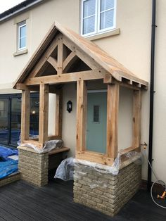 Made in Oak, Oak Framed Porches Cottage Front Porches, Porch Uk, Side Porch, House With Porch, House Front, Porch Designs Uk, Front Porch Design, Porch Ideas Uk, House Awnings