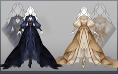 Dress Design Sketches, Fashion Design Drawings, Dress Drawing, Drawing Clothes, Anime Outfits, Cute Outfits, Kleidung Design, Clothing Sketches, Fantasy Gowns