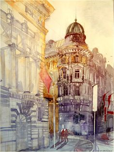 wien / Watercolor Architectures by Maja Wronska