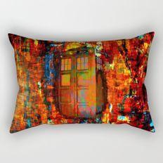 Tardis Rainbow Rectangular Pillow