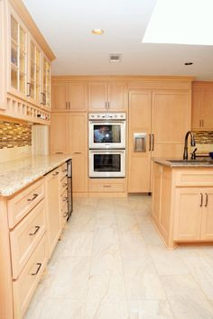 Image Result For Scandinavian Kitchen Maple Cabinets Tile Floor Kitchen Cabinets Pictures Maple Kitchen Maple Kitchen Cabinets