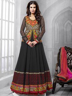 Black Color Designer Anarkali Suit 1002NZ