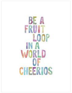 Art.com Be A Fruit Loop by Brett Wilson Unframed Wall Art Print