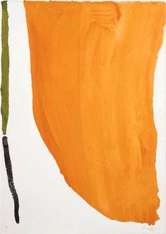 helen frankenthaier, 1970 ~ orange downpour