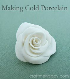 Cold porcelain is an air dry clay that's really easy to work with, cheap to make and is perfect for a kid's craft or making delicate bridal accessories.  Here's how I made mine.